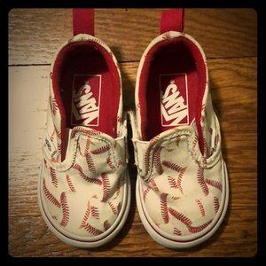 Vans Toddler Off The Wall Baseball Print Shoe 5